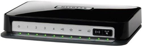 NETGEAR DGN2200-100PES Wireless N300 Modem Router (2,4 GHz, ADSL2+, USB-Port) Annex A – nicht für Deutschland geeignet