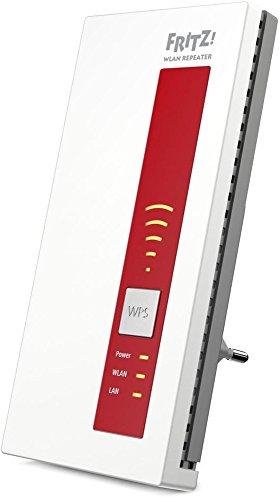 AVM FRITZ!WLAN Repeater 1750E (Dual-WLAN AC + N bis zu 1.300 MBit/s 5 GHz + 450MBit/s 2,4 GHz) geeignet für Deutschland