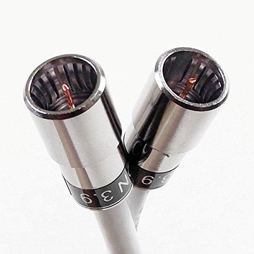 1 m Kabelmodem-F-Quick-Anschlusskabel mit Cabelcon F-SC-59 CX3 3.9 und Ören HD 083, 3-fach geschirmt, Klasse A+