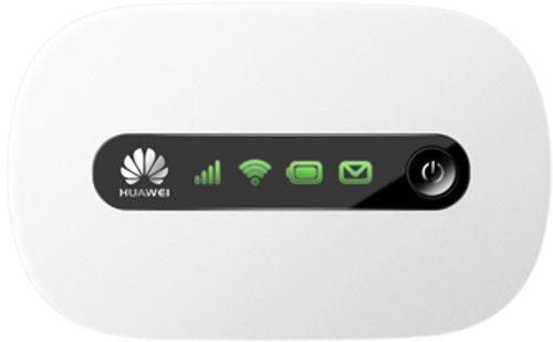 Huawei E5220 Mobiler Wifi WLAN-Router (deutsche Version, bis zu 10 WLAN-Zugänge, 5s Boot-Zeit, HSPA+) weiß