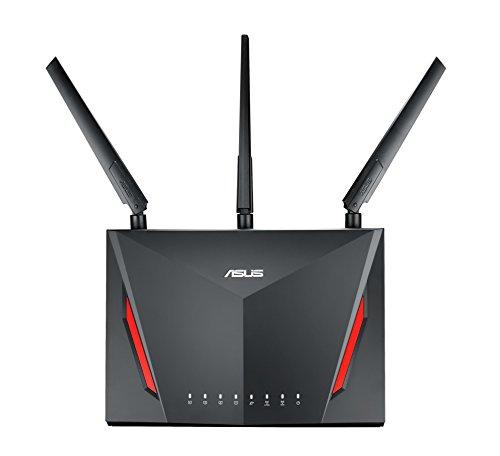 Asus RT-AC86U AC2900 Pro-Gamer WLAN Router (AiMesh, Ping Beschleuniger, 4x GB-LAN, 1.8 GHz Dual-Core CPU, App Steuerung, AiProtection by Trendmirco, Wave2 Mu-Mimo, Multifunktion-USB 3.0)