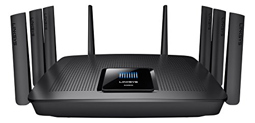 Linksys EA9500-EU AC5400 Wireless Tri-band MU-MIMO Gigabit WLAN Router (1 x USB 3.0; 1 x USB 2.0, Beamforming-Technologie)